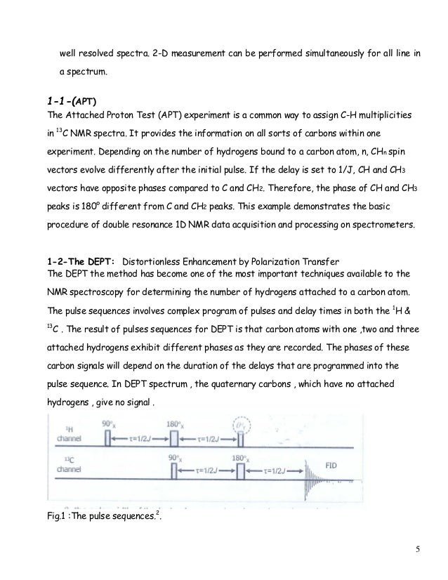 Nmr lab report