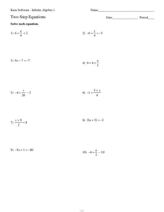 35 2 Step Equations Worksheet Pdf - Worksheet Resource Plans