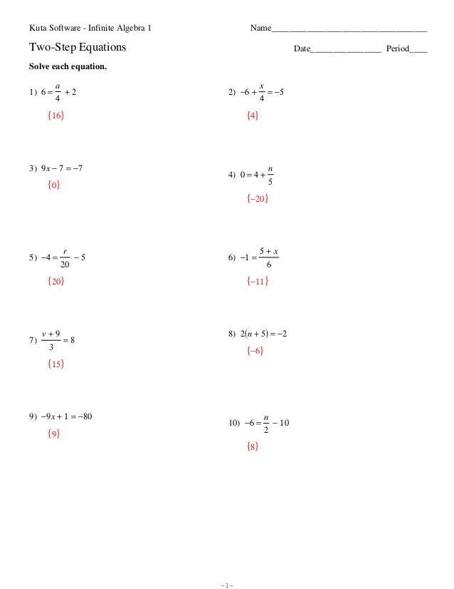 Algebra 1 Multi Step Equations Worksheet Free Worksheets Library ...