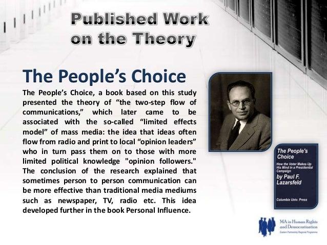 peoples choice lazarsfeld