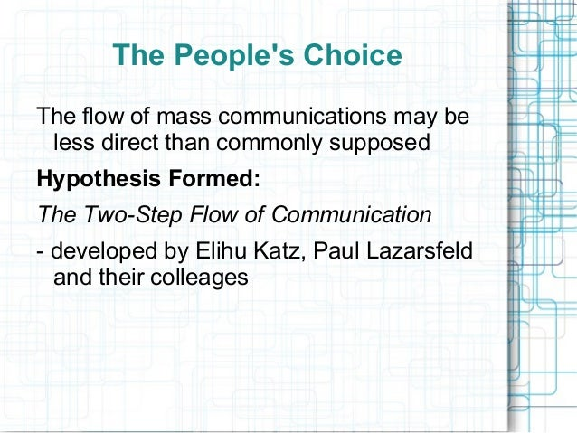 the peoples choice lazarsfeld