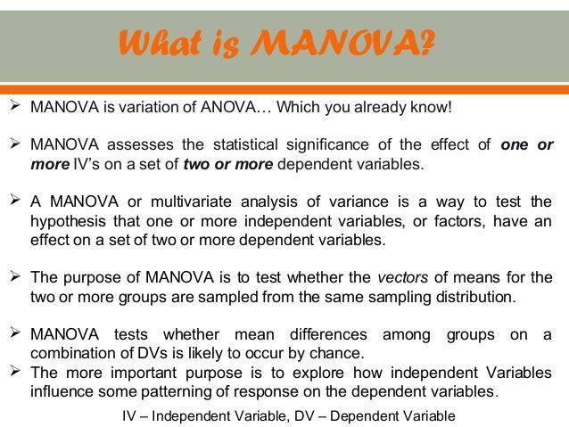What Does Manova Test