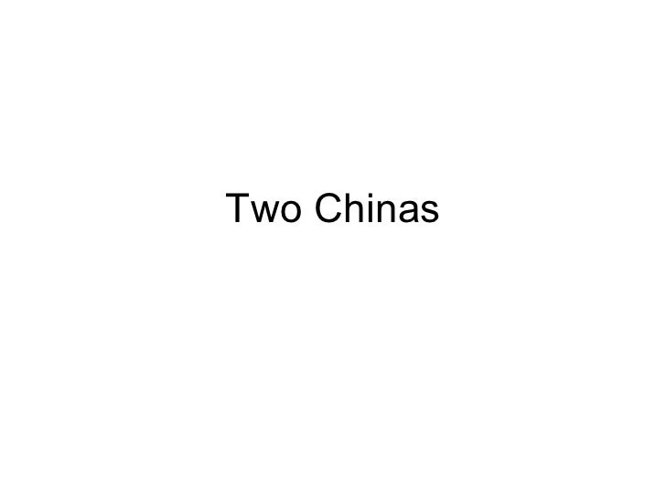 Two Chinas