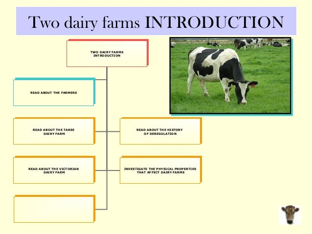 Two dairy farms INTRODUCTION TWO DAIRY FARMS INTRODUCTION TWO DAIRY FARMS INTRODUCTION READ ABOUT THE TAREE DAIRY FARM REA...