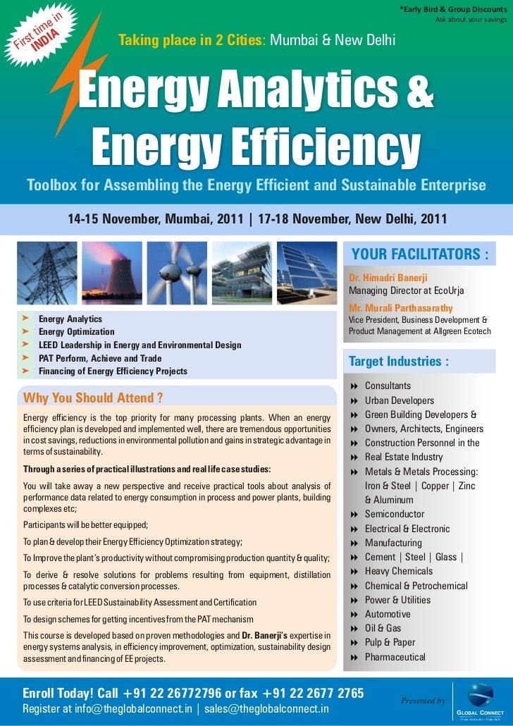 Energy Intelligence Analytics and Optimization
