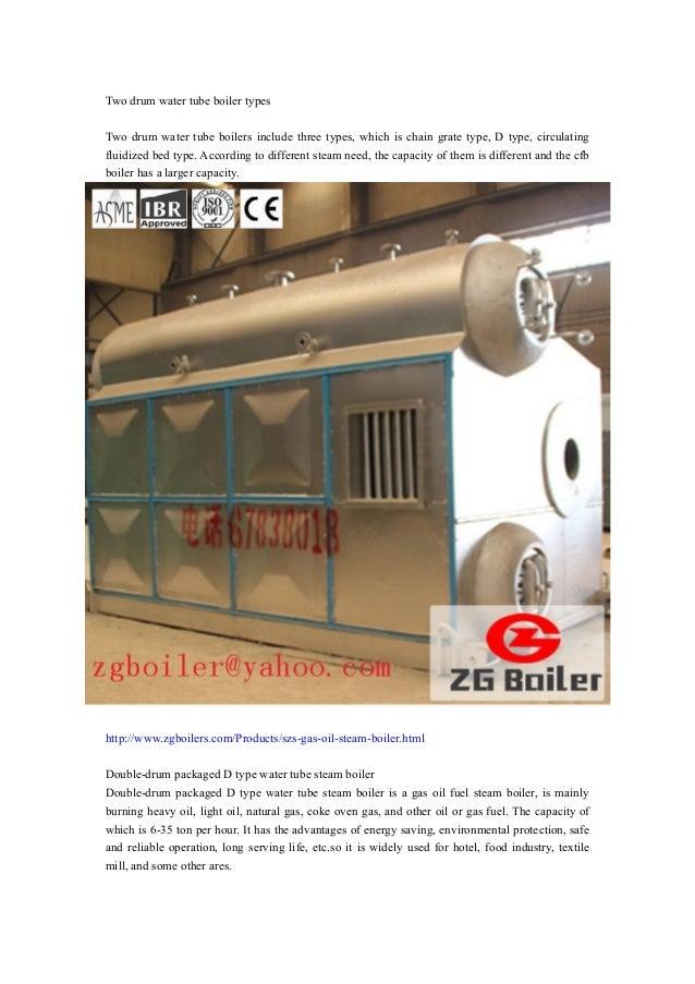 Two drum water tube boiler types