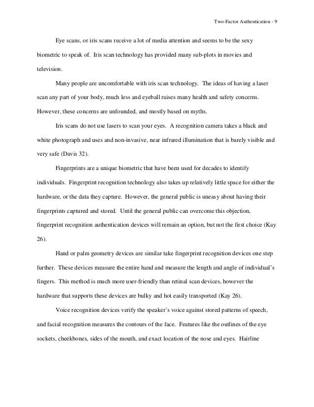 two factor authentication research papers Page 1 white paper options for two factor authentication authors: andrew kemshall phil underwood date: july 2007.
