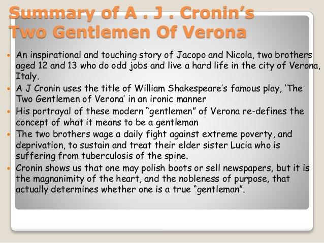 Summary of two gentlemen of verona meritnation