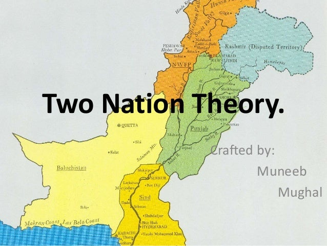 Two Nation Theory.  Crafted by:  Muneeb  Mughal
