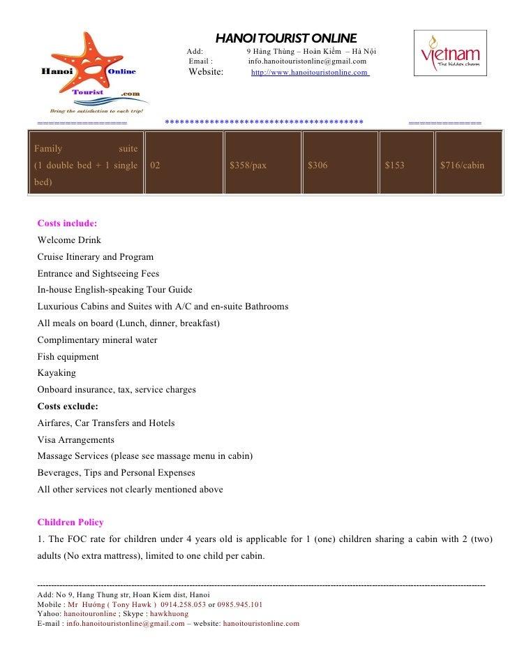 HANOI TOURIST ONLINE                                                     Add:                  9 Hàng Thùng – Hoàn Kiếm – ...