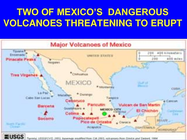 Two Of Mexicos Dangerous Volcanoes Are Threatening To Erupt - Active volcanoes in mexico