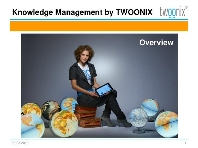 Knowledge Management by TWOONIX 29.08.2013 1 Overview