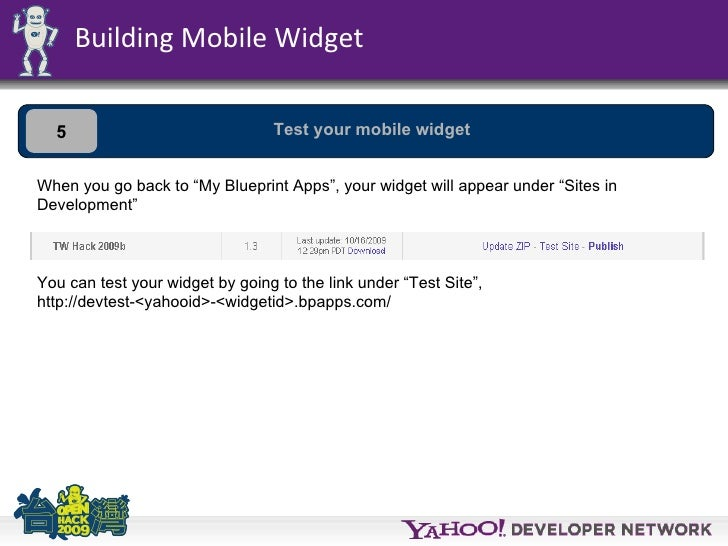 Tw open hack blueprint building mobile widget 4 upload your mobile widget 28 malvernweather Images