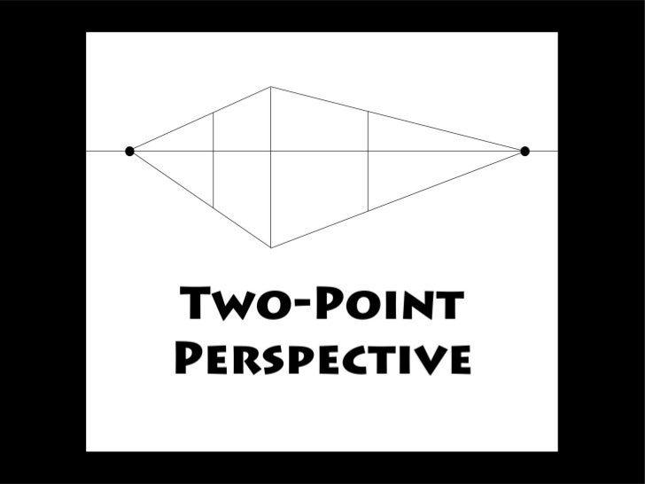 Two-point perspective can be used to draw the same objects as one-point perspective, rotated: looking at the corner of a h...