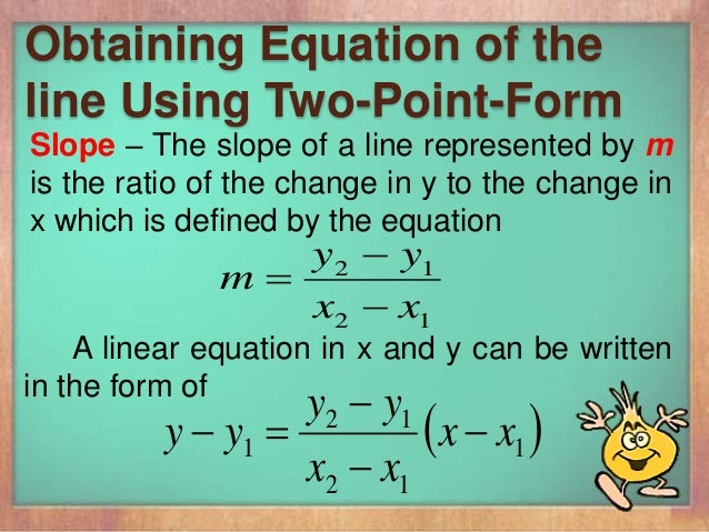 how to change general form to slope point form