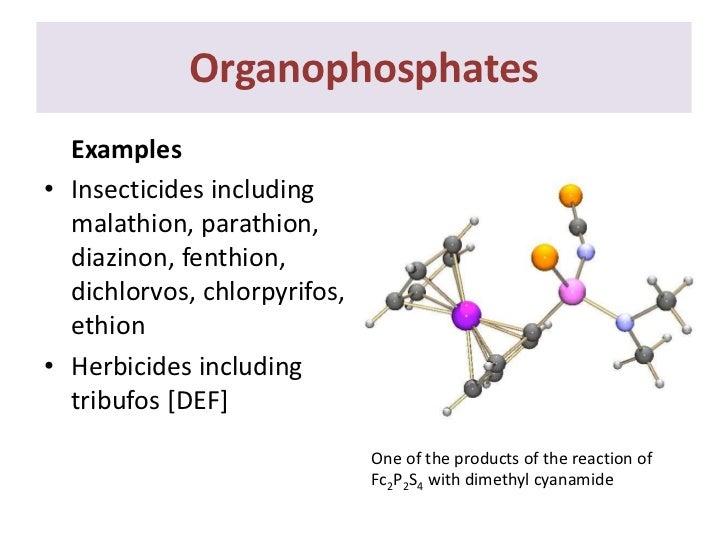 diazepam organophosphate pesticide example