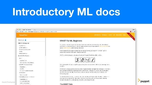 Gareth Rushgrove Introductory ML docs