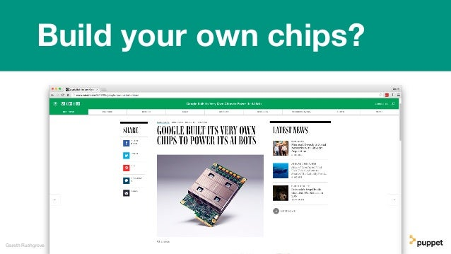Gareth Rushgrove Build your own chips?
