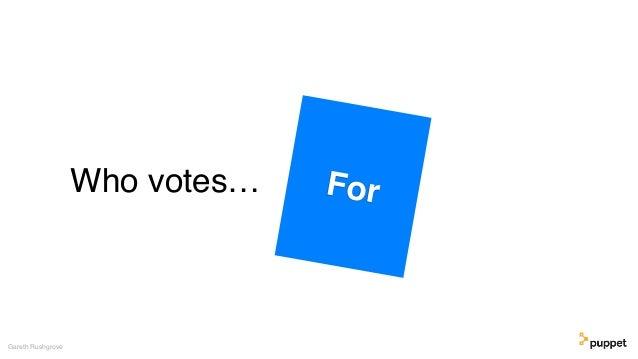 Who votes… Gareth Rushgrove For