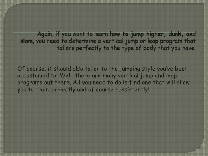 Two Simple Ways On How To Jump Higher