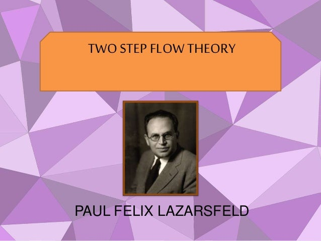 2 step flow theory