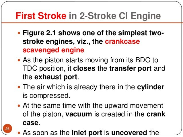 26 First Stroke In 2 CI Engine