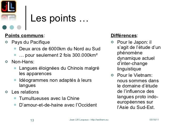 Les points …  <ul><li>Points communs : </li></ul><ul><li>Pays du Pacifique </li></ul><ul><ul><li>Deux arcs de 6000km du No...
