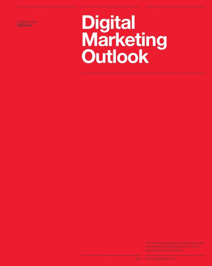 Chapter One Opinions               Digital               Marketing               Outlook                                *T...