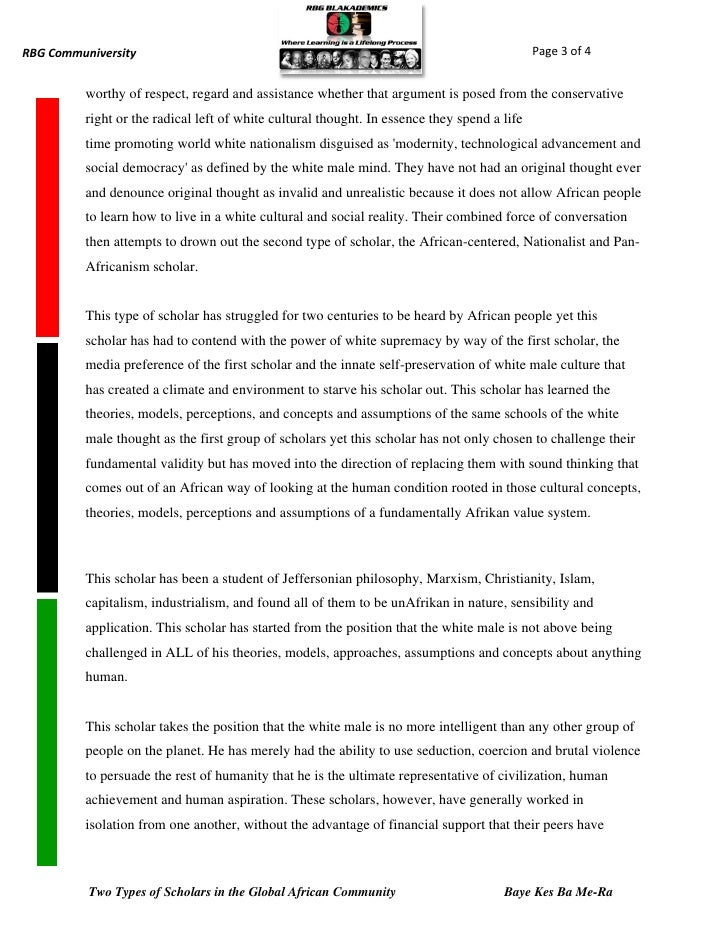 Types of scholars