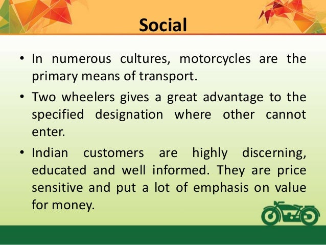 five forces model of two wheeler industry Unions exercise considerable supplier power though there are few direct substitutes for an 18-wheeler, truck buyers in addition to revealing positioning opportunities within an existing industry, the five forces framework the boundaries of an industry consist of two primary.