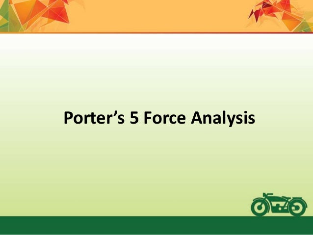 five forces analysis of two wheeler industry Numbers for the industry as well (chintan shah, 2011) according to the michel porter 5 forces analysis will illustrate the industry condition of the two wheeler market threats of substitutes are in 150-250cc segment there is less risk of substitutes however in lower segment (90-150 cc) penetration could be seen towards.