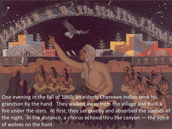One evening in the fall of 1869, an elderly Cherokee indian took his grandson by the hand. They walked away from the vill...