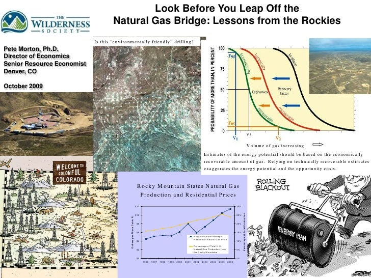 Look Before You Leap Off the <br />Natural Gas Bridge: Lessons from the Rockies<br />Pete Morton, Ph.D.<br />Director of E...