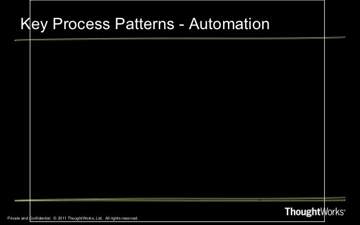 Key Process Patterns - Automation Private and Confidential.  © 2011 ThoughtWorks, Ltd.  All rights reserved.
