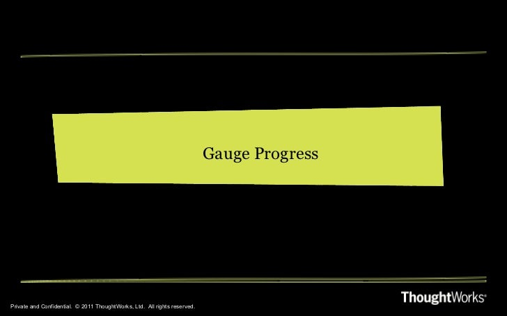 Private and Confidential.  © 2011 ThoughtWorks, Ltd.  All rights reserved. Gauge Progress