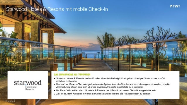 DAS SMARTPHONE ALS TÜRÖFFNEROOO   ▪ Starwood Hotels & Resorts wollen Kunden ab sofort die Möglichkeit geben direkt per S...