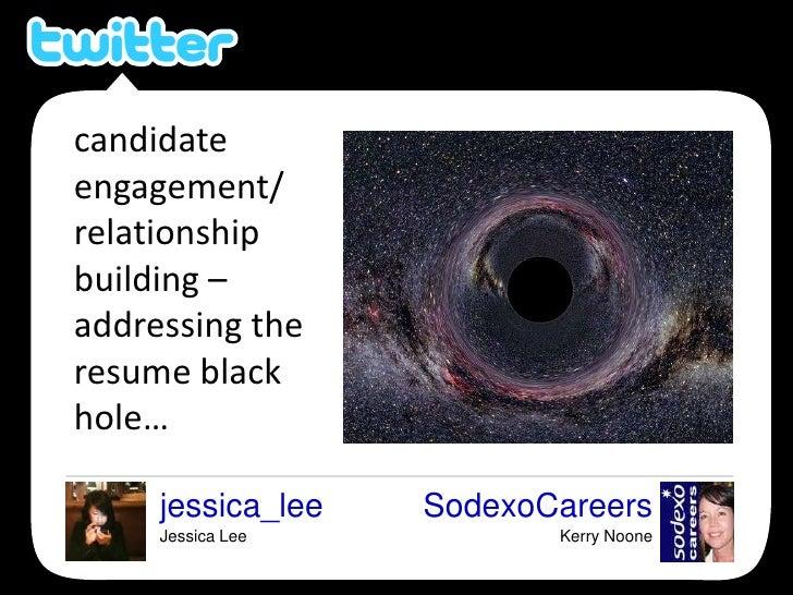 candidate engagement/<br />relationship building – addressing the resume black hole…<br />