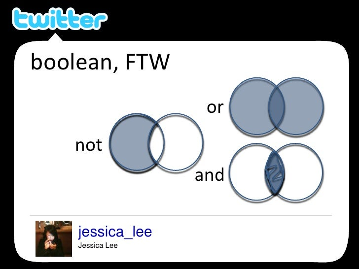 boolean, FTW<br />or<br />not<br />and<br />jessica_lee<br />Jessica Lee<br />