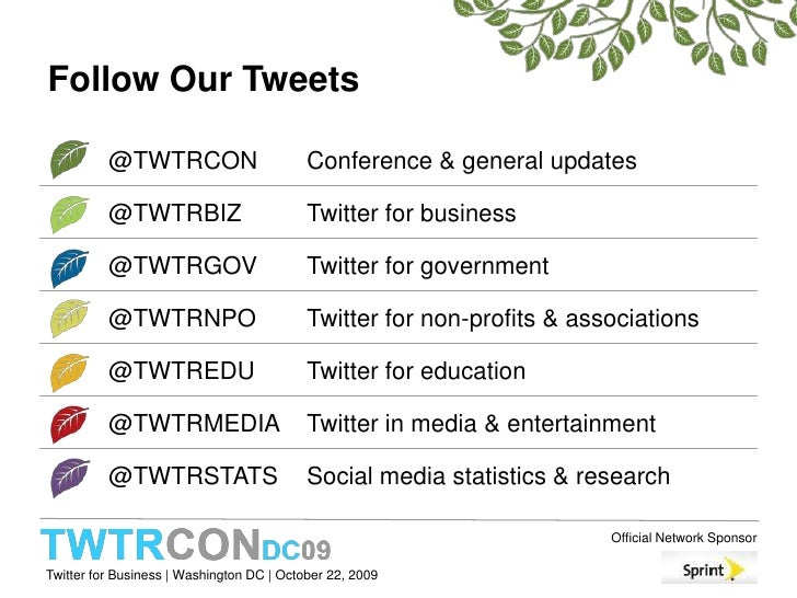 Follow Our Tweets<br />
