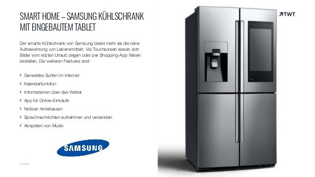 twt trendradar smart home samsung k hlschrank mit eingebautem tabl. Black Bedroom Furniture Sets. Home Design Ideas