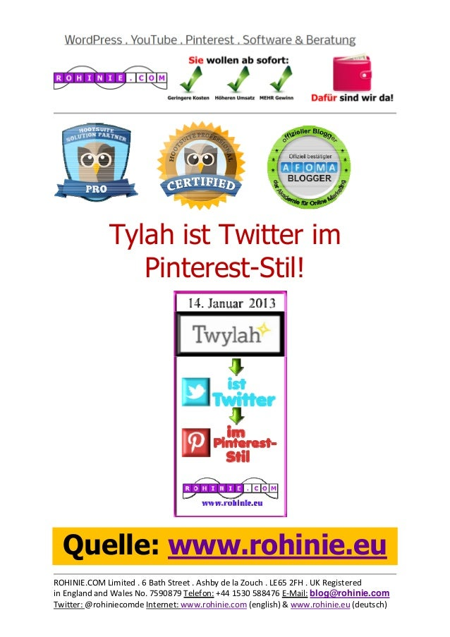 Tylah ist Twitt...