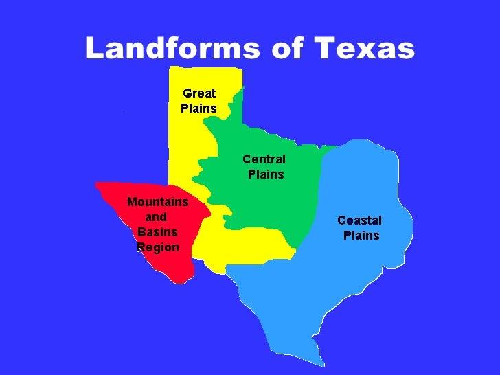 Landform Map Of Texas.Tx History Ch 2 1