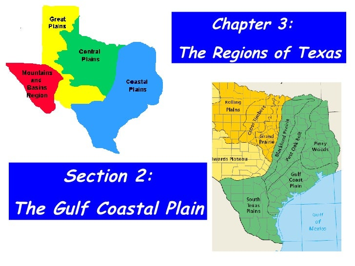Chapter 3:  The Regions of Texas Section 2: The Gulf Coastal Plain