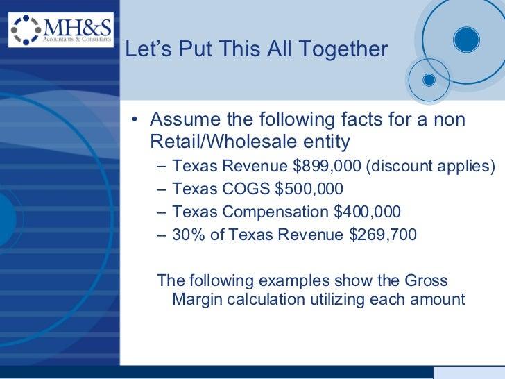 revised franchise tax presentation