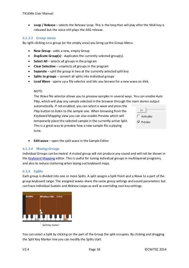 Tx16 wx user manual