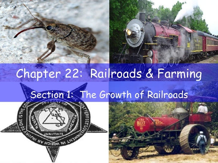 Chapter 22:  Railroads & Farming Section 1:  The Growth of Railroads
