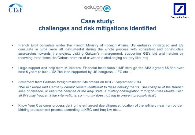 Case study: challenges and risk mitigations identified § French Erbil consulate under the French Ministry of Foreign Affa...