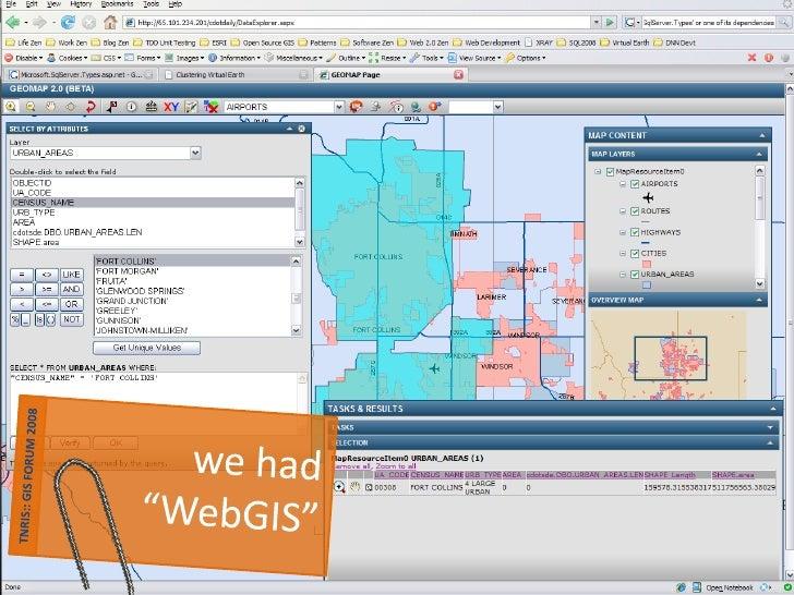 "most  ""WebGIS""    sites       are…"