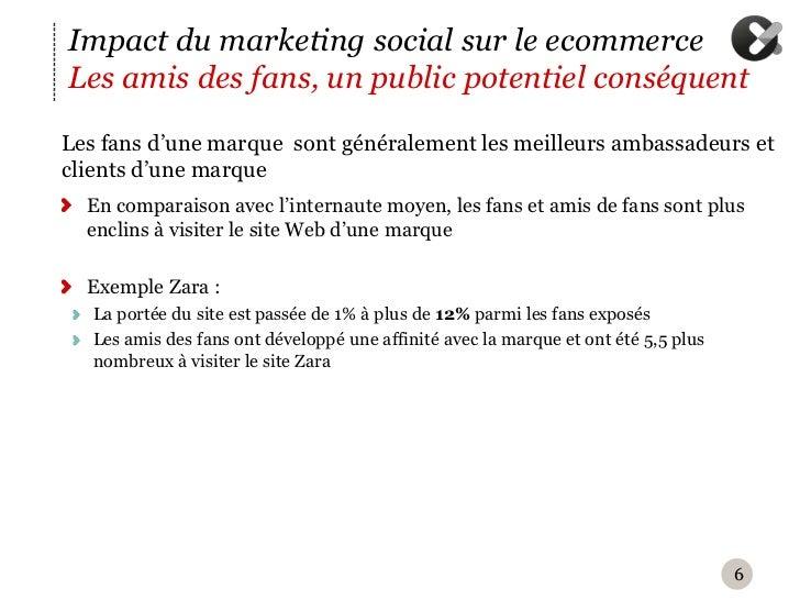 Impact du marketing social sur le ecommerceLes amis des fans, un public potentiel conséquentL es fans d'une marque sont g...