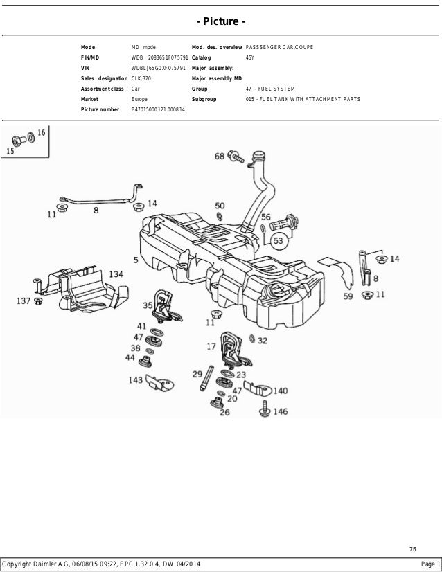 Mercedes benz w208 clk 320 epc contents